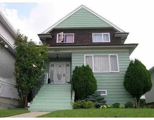 """Main Photo: 4822 JOYCE Street in Vancouver: Collingwood Vancouver East House for sale in """"NONE"""" (Vancouver East)  : MLS®# V619908"""