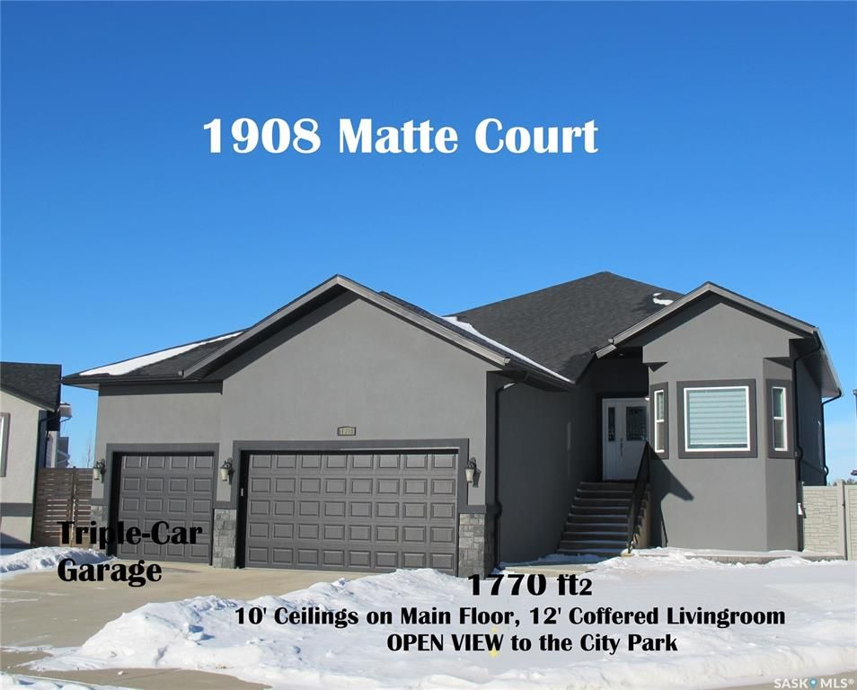 Main Photo: 1908 Matte Court in Estevan: Dominion Heights EV Residential for sale : MLS®# SK840723