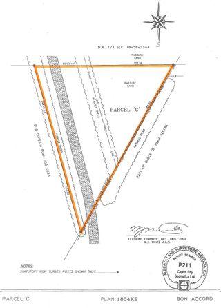 Photo 1: Plan 1854KS Parcel C - east end of 52 Avenue: Bon Accord Vacant Lot for sale : MLS®# E4251653