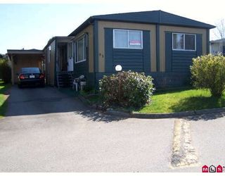 """Photo 1: 93 1884 MCCALLUM Road in ABBOTSFORD: Central Abbotsford Manufactured Home for sale in """"GARDEN VILLAGE"""" (Abbotsford)  : MLS®# F2908962"""