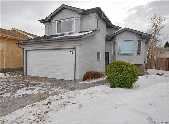 Main Photo: 26 Francois Muller Place in Winnipeg: Windsor Park Residential for sale (2G)  : MLS®# 1803008