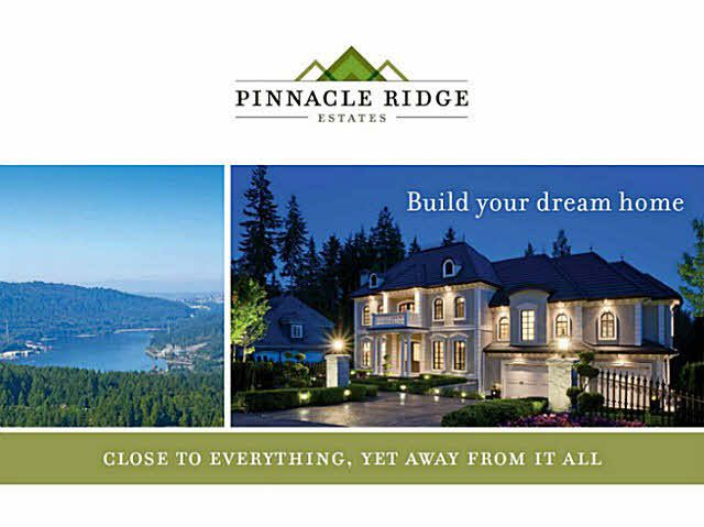 Main Photo: 2030 RIDGE MOUNTAIN Drive: Anmore Land for sale (Port Moody)  : MLS®# V1117326