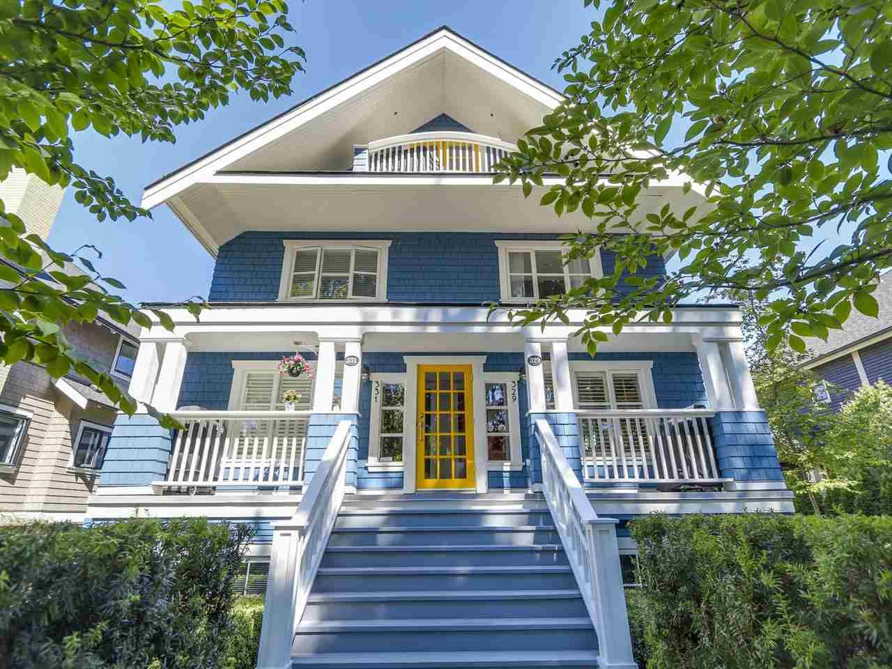 Main Photo: 329 W 15TH AVENUE in Vancouver: Mount Pleasant VW Townhouse for sale (Vancouver West)  : MLS®# R2102962
