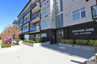 """Photo 1: 418 12070 227 Street in Maple Ridge: East Central Condo for sale in """"STATION ONE"""" : MLS®# R2364087"""