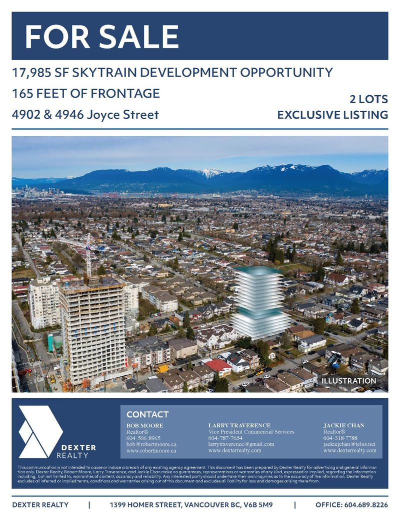 FEATURED LISTING: 4902 /4946 Joyce Street Vancouver
