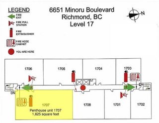 """Photo 23: 1707 6651 MINORU Boulevard in Richmond: Brighouse Condo for sale in """"PARK TOWERS"""" : MLS®# R2573448"""