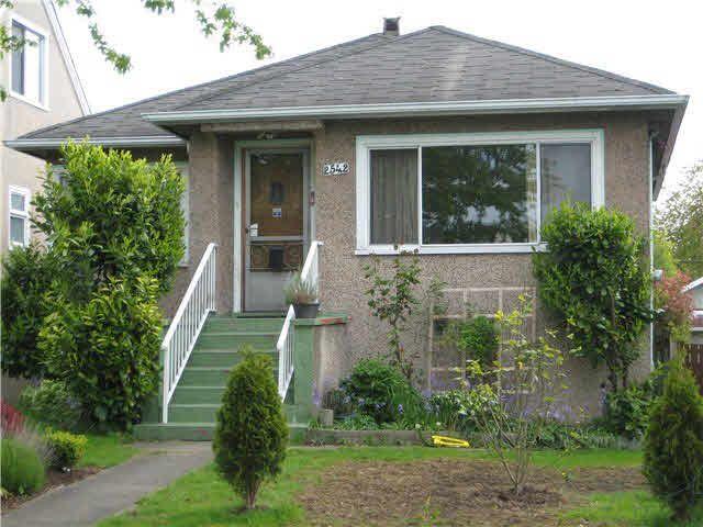 Main Photo: 2542 ADANAC STREET in : Renfrew VE House for sale : MLS®# V828011