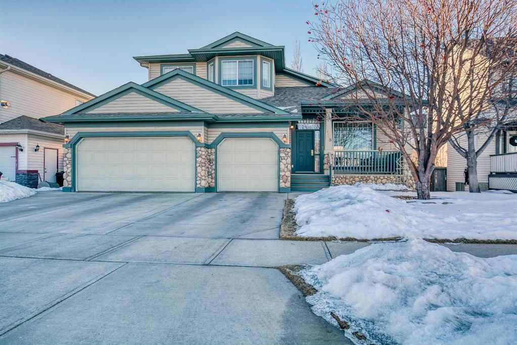 Move in ready! This home features a heated triple garage and a fully developed basement!