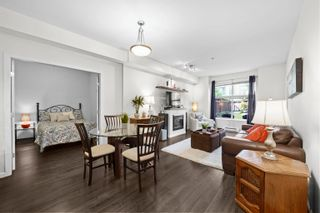 """Photo 1: 101 275 ROSS Drive in New Westminster: Fraserview NW Condo for sale in """"THE GROVE"""" : MLS®# R2615708"""