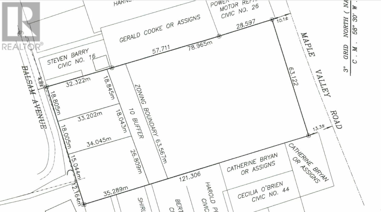 Main Photo: 28-30 Maple Valley Road in Corner Brook: Vacant Land for sale : MLS®# 1230213