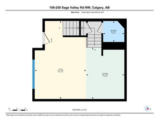 Photo 17: 109 250 Sage Valley Road NW in Calgary: Sage Hill Row/Townhouse for sale : MLS®# A1061323