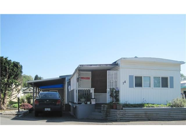 """Main Photo: 14 201 CAYER Street in Coquitlam: Maillardville Manufactured Home for sale in """"WILDWOOD PARK"""" : MLS®# V1005641"""