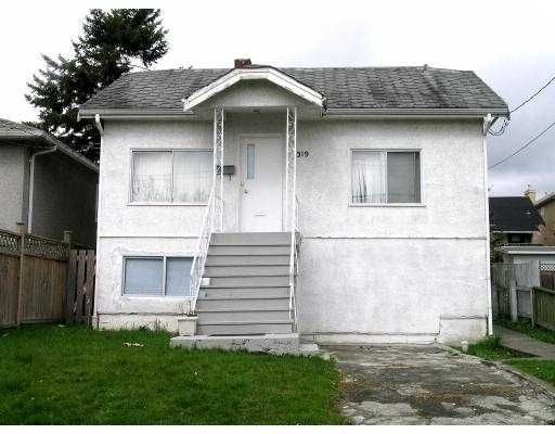 Main Photo: 319 E 62ND AV in Vancouver: South Vancouver House  (Vancouver East)