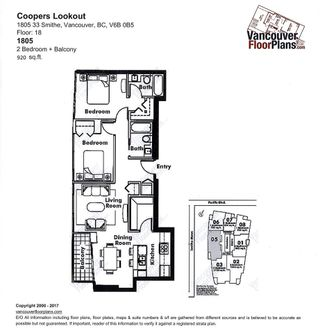 """Photo 20: 1805 33 SMITHE Street in Vancouver: Yaletown Condo for sale in """"COOPERS LOOKOUT"""" (Vancouver West)  : MLS®# R2205849"""
