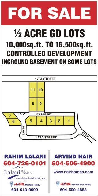 Photo 1: 8223 171ST Street in Surrey: Fleetwood Tynehead Land for sale : MLS®# F2905411