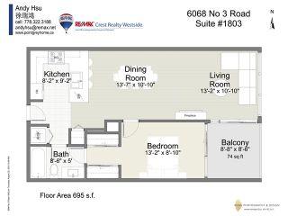 Photo 12: 1803 6068 NO 3 Road in Richmond: Brighouse Condo for sale : MLS®# V1140741