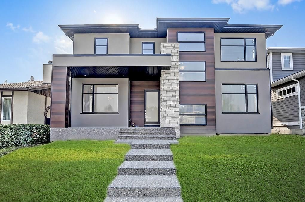Impressive curb appeal with beautiful exterior materials used