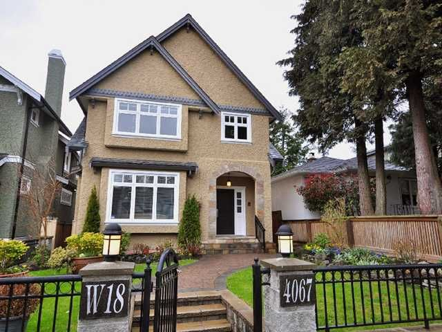 Main Photo: 4067 W 18TH Avenue in Vancouver: Dunbar House for sale (Vancouver West)  : MLS®# V884196