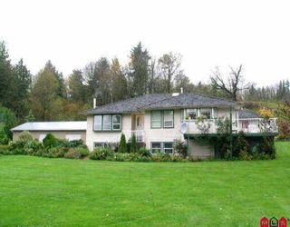 Photo 1: 3081 ELDRIDGE RD in Abbotsford: Sumas Mountain House for sale : MLS®# F2612754