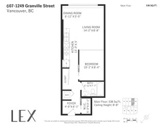 """Photo 19: 607 1249 GRANVILLE Street in Vancouver: Downtown VW Condo for sale in """"The Lex"""" (Vancouver West)  : MLS®# R2625490"""