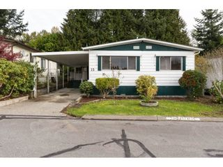 """Photo 1: 15 1640 162 Street in Surrey: King George Corridor Manufactured Home for sale in """"CHERRY BROOK PARK"""" (South Surrey White Rock)  : MLS®# R2145736"""