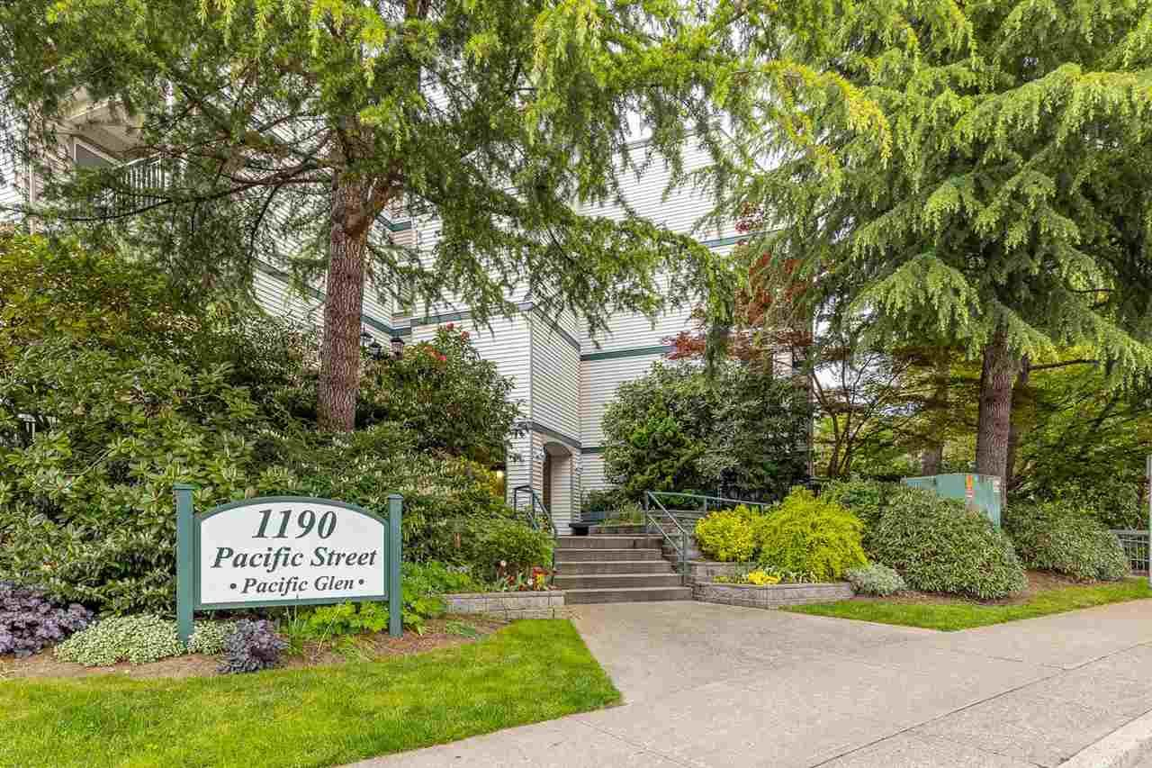 """Main Photo: 411 1190 PACIFIC Street in Coquitlam: North Coquitlam Condo for sale in """"Pacific Glen"""" : MLS®# R2588073"""