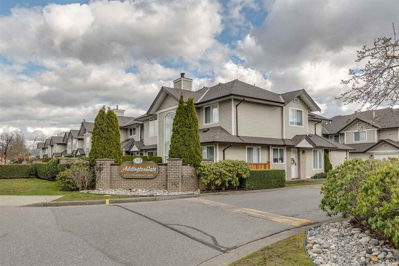 """Main Photo: 51 1370 RIVERWOOD Gate in Port Coquitlam: Riverwood Townhouse for sale in """"Addington Gate"""" : MLS®# R2351847"""