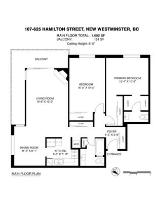 Photo 23: 107 625 HAMILTON Street in New Westminster: Uptown NW Condo for sale : MLS®# R2624882
