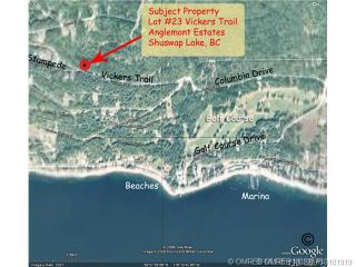 Photo 1: 23 Vickers Trail in Anglemont: Anglemont Estates Vacant Land for sale (North Shuswap)  : MLS®# 10131535