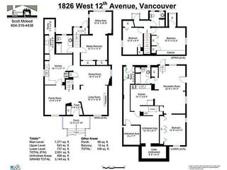 Photo 17: 1826 W 12TH Avenue in Vancouver: Kitsilano House for sale (Vancouver West)  : MLS®# V1106697
