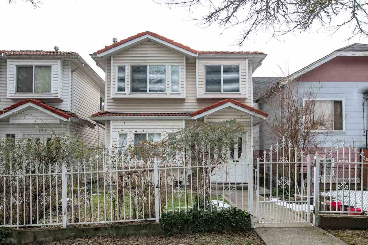 Main Photo: 532 E 21ST AVENUE in Vancouver: Fraser VE House for sale (Vancouver East)  : MLS®# R2346404