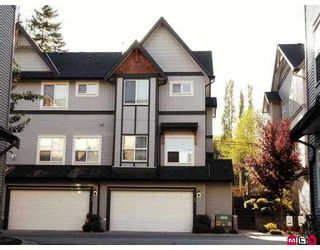 "Photo 1: 90 8737 161ST ST in Surrey: Fleetwood Tynehead Townhouse for sale in ""Board Walk"" : MLS®# F2618703"