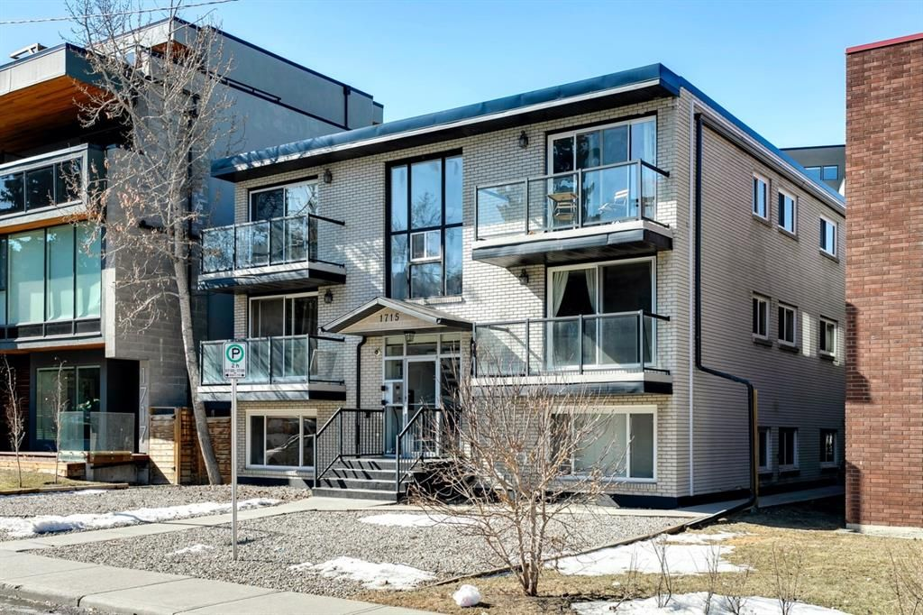 Main Photo: 1 1715 13 Street SW in Calgary: Lower Mount Royal Apartment for sale : MLS®# A1082017
