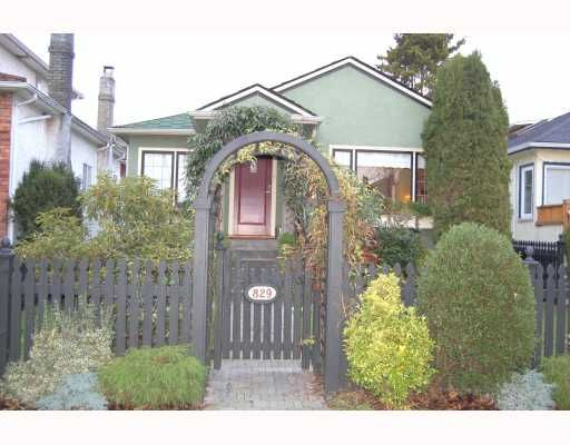 """Main Photo: 829 W 17TH Avenue in Vancouver: Cambie House for sale in """"DOUGLAS PARK"""" (Vancouver West)  : MLS®# V748707"""