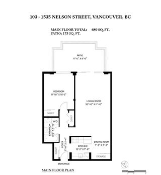 """Photo 22: 103 1535 NELSON Street in Vancouver: West End VW Condo for sale in """"The Admiral"""" (Vancouver West)  : MLS®# R2606842"""