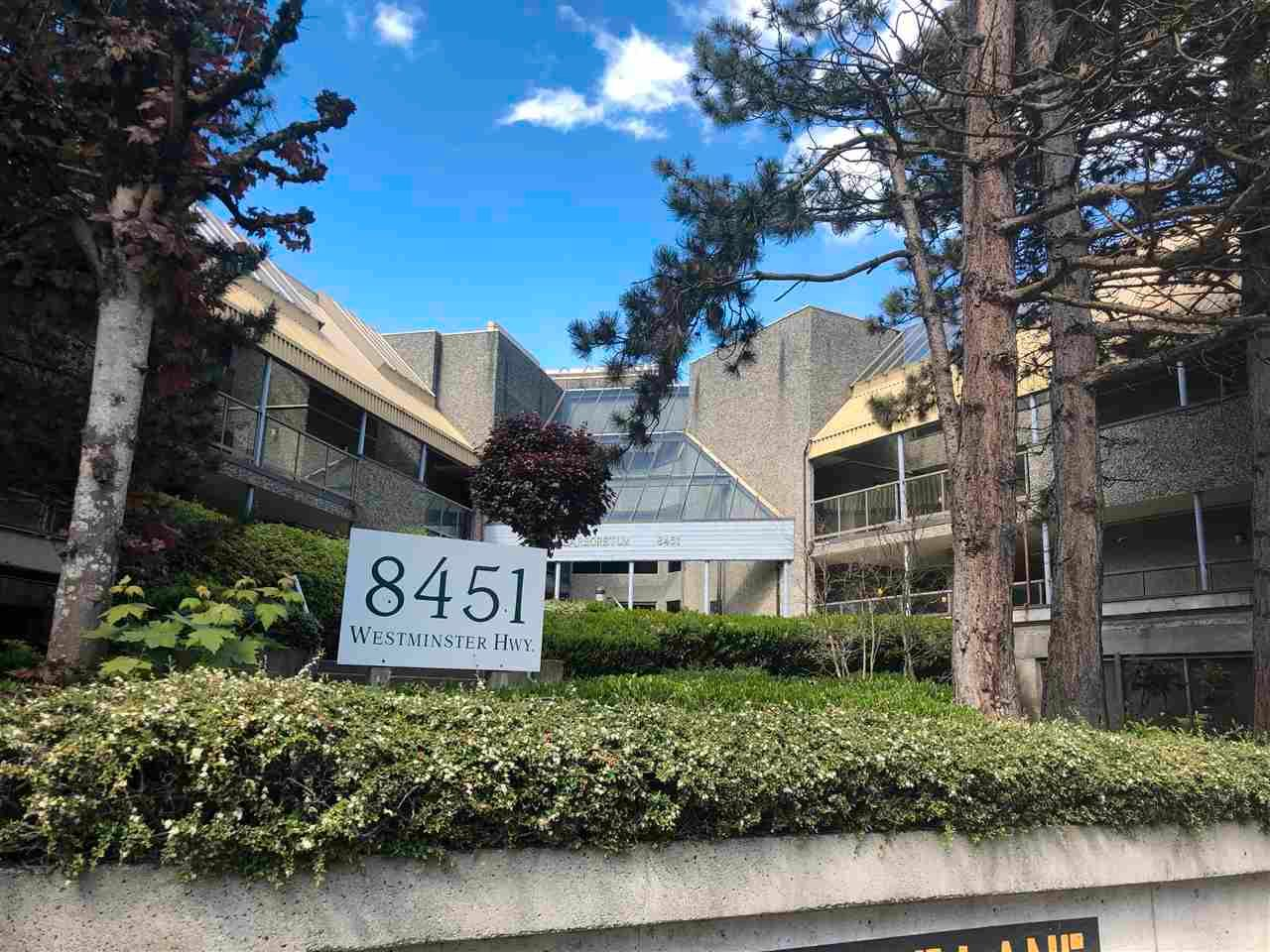 """Main Photo: 106 8451 WESTMINSTER Highway in Richmond: Brighouse Condo for sale in """"ARBORETUM II"""" : MLS®# R2575434"""