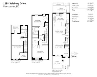 Photo 28: 1288 SALSBURY DRIVE in Vancouver: Grandview Woodland Townhouse for sale (Vancouver East)  : MLS®# R2599925