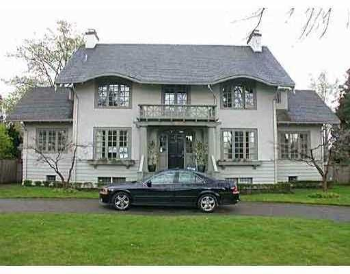 Main Photo: 2050 W 18TH AV in Vancouver: Shaughnessy House for sale (Vancouver West)  : MLS®# V546465