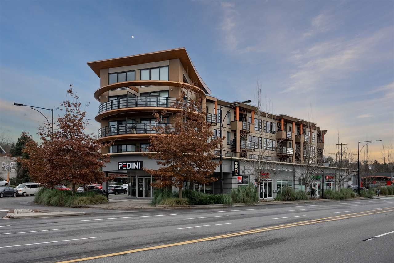 "Main Photo: 408 857 W 15TH Street in North Vancouver: Mosquito Creek Condo for sale in ""The Vue"" : MLS®# R2556931"