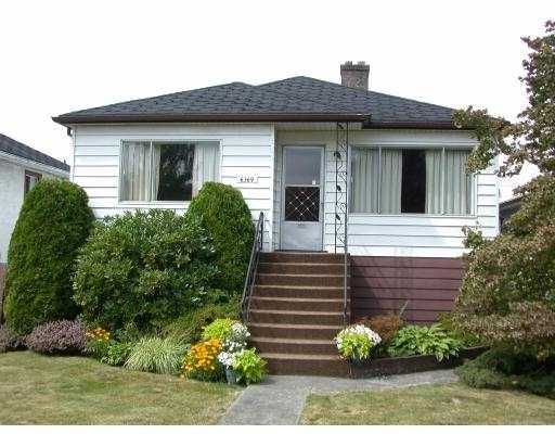 Main Photo: 6369 COMMERCIAL ST in Vancouver: Victoria VE House for sale (Vancouver East)  : MLS®# V551579