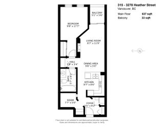 """Photo 22: 315 3278 HEATHER Street in Vancouver: Cambie Condo for sale in """"Heatherstone"""" (Vancouver West)  : MLS®# R2625598"""