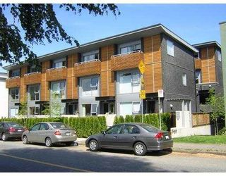 Photo 1: 1466 ARBUTUS Street in Vancouver: Kitsilano Townhouse for sale (Vancouver West)  : MLS®# V699032