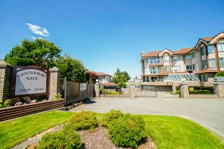 """Photo 1: 21 32659 GEORGE FERGUSON Way in Abbotsford: Abbotsford West Townhouse for sale in """"Canterbury Gate"""" : MLS®# R2567107"""