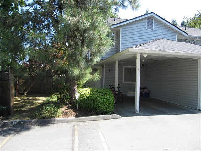 "Main Photo: 41 22412 124 Avenue in Maple Ridge: East Central Townhouse for sale in ""CREEKSIDE"" : MLS®# V1139740"
