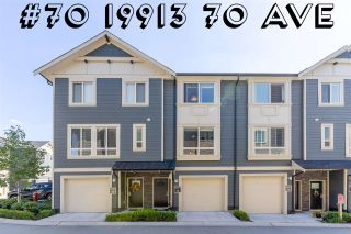 Photo 1: #70 19913 70 AVENUE in Langley: Willoughby Heights Townhouse for sale : MLS®# R2518240
