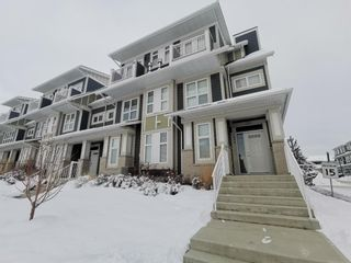 Main Photo: 296 Silverado Plains Park SW in Calgary: Silverado Row/Townhouse for sale : MLS®# A1065666