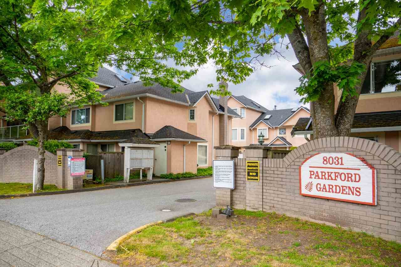 "Main Photo: 19 8031 GENERAL CURRIE Road in Richmond: Brighouse South Townhouse for sale in ""PARKFORD GARDEN"" : MLS®# R2460568"