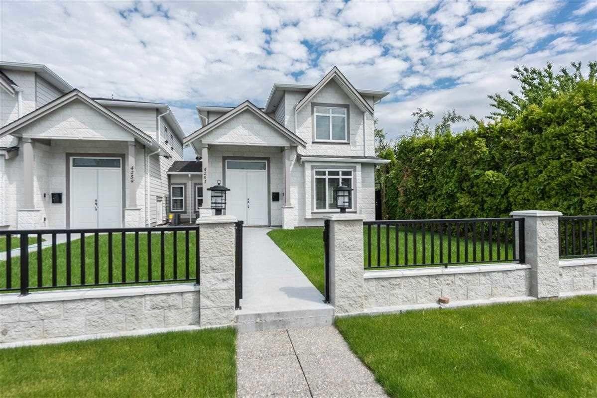 Main Photo: 4261 HURST Street in Burnaby: Metrotown 1/2 Duplex for sale (Burnaby South)  : MLS®# R2401409