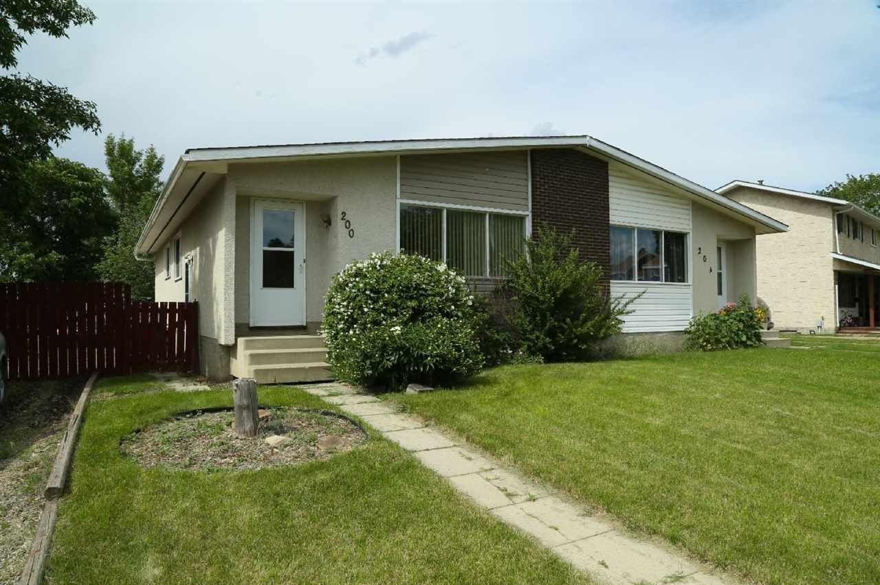 Main Photo: 200 MILLBOURNE Road E in Edmonton: Zone 29 House Half Duplex for sale : MLS®# E4203111
