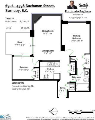 "Photo 29: 906 4398 BUCHANAN Street in Burnaby: Brentwood Park Condo for sale in ""Buchanan East"" (Burnaby North)  : MLS®# R2625486"
